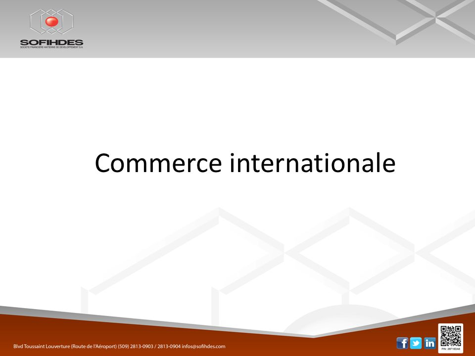 Commerce internationale