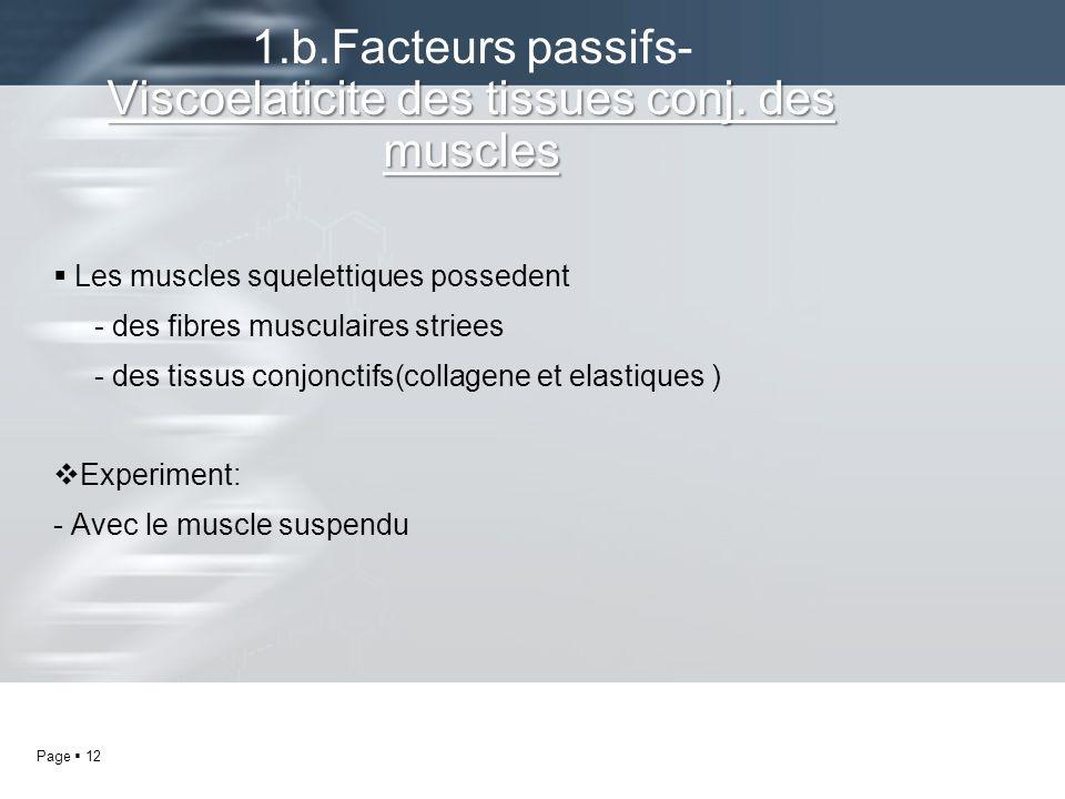1.b.Facteurs passifs- Viscoelaticite des tissues conj. des muscles