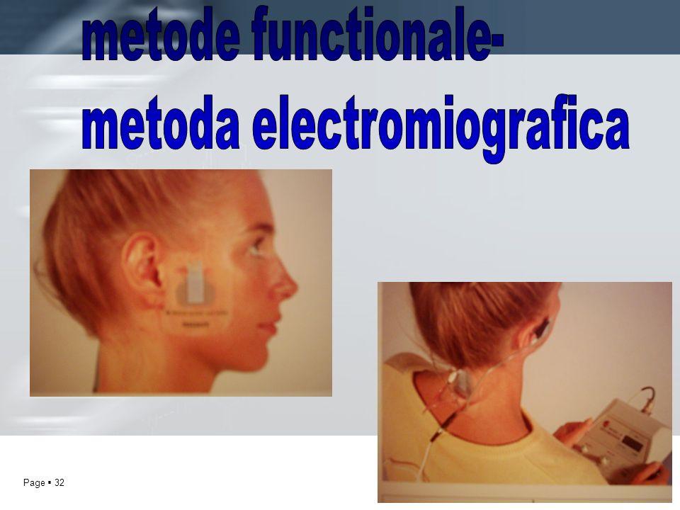 metode functionale- metoda electromiografica
