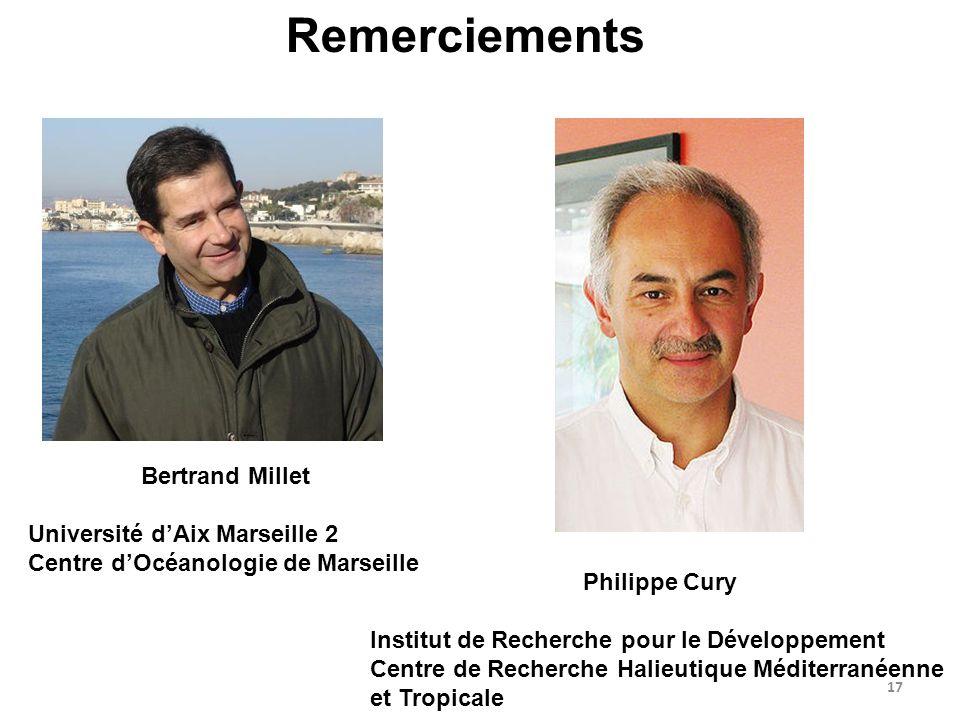 Remerciements Bertrand Millet Université d'Aix Marseille 2