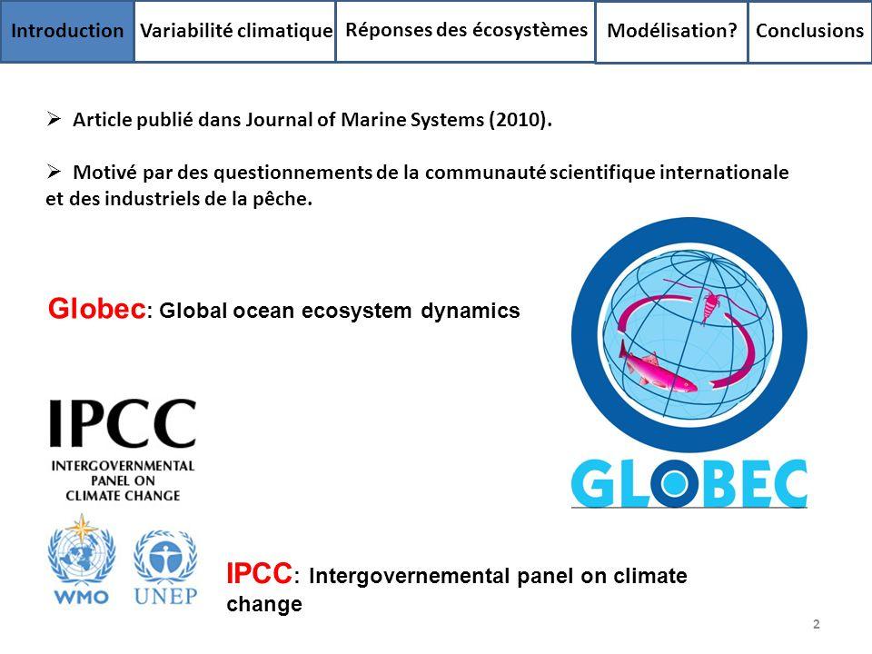 Globec: Global ocean ecosystem dynamics