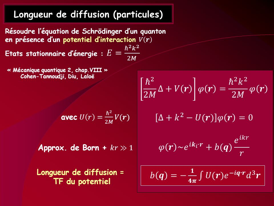 Longueur de diffusion (particules)