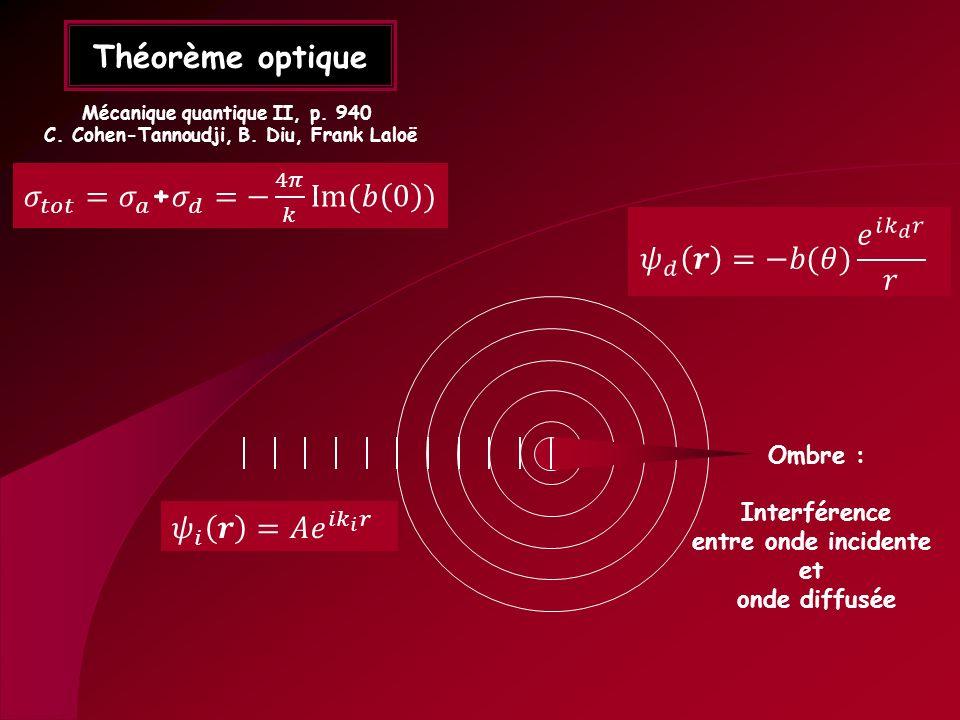 Mécanique quantique II, p. 940 C. Cohen-Tannoudji, B. Diu, Frank Laloë