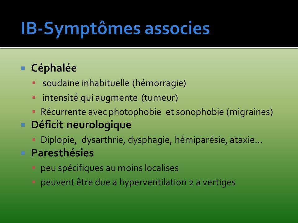 IB-Symptômes associes