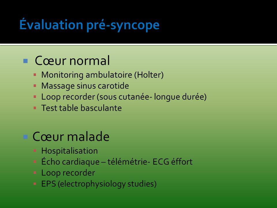 Évaluation pré-syncope