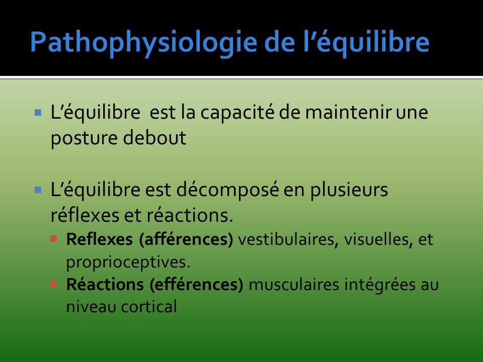 Pathophysiologie de l'équilibre