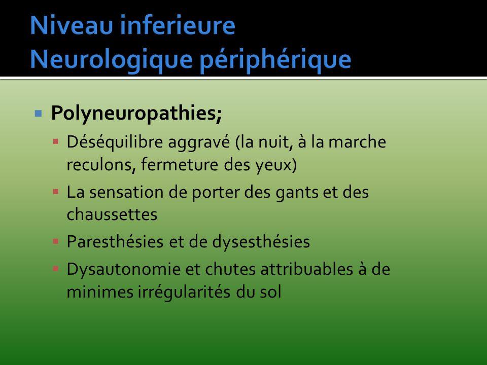 Niveau inferieure Neurologique périphérique