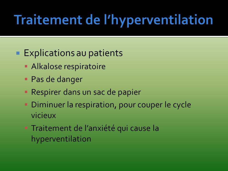 Traitement de l'hyperventilation