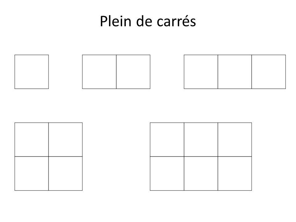 Plein de carrés