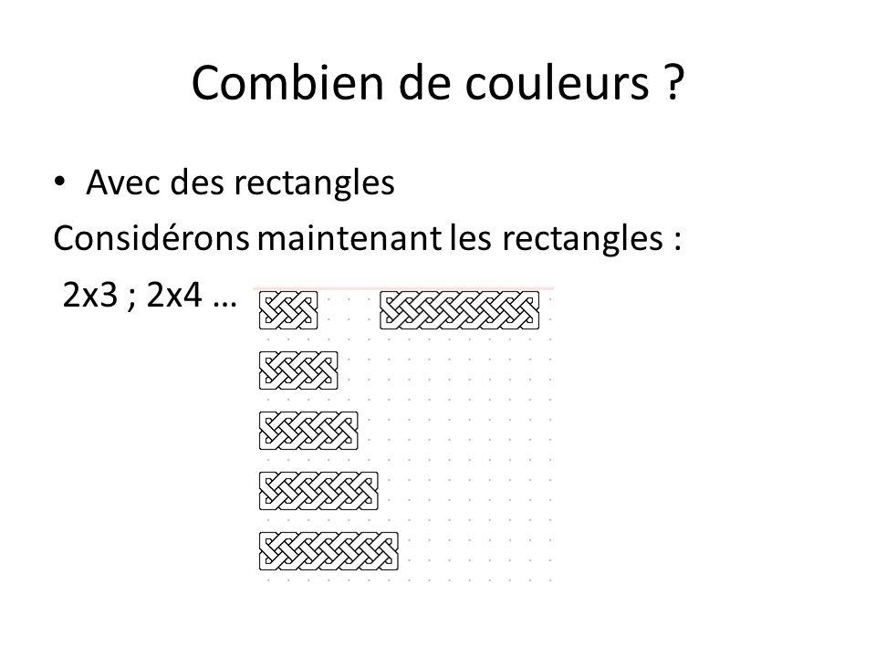 Combien de couleurs Avec des rectangles