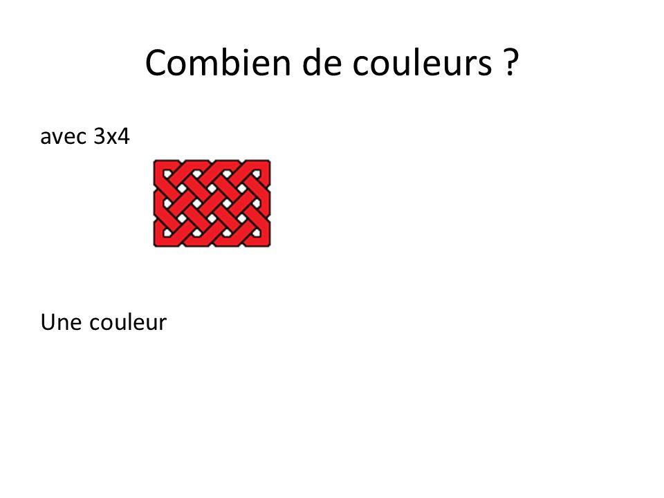 Combien de couleurs avec 3x4 Une couleur
