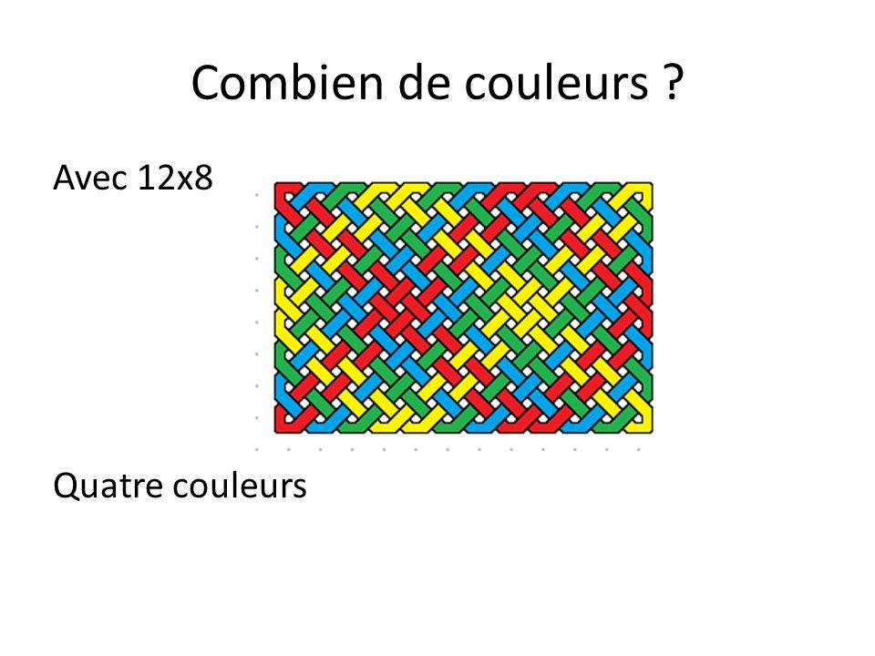 Combien de couleurs Avec 12x8 Quatre couleurs