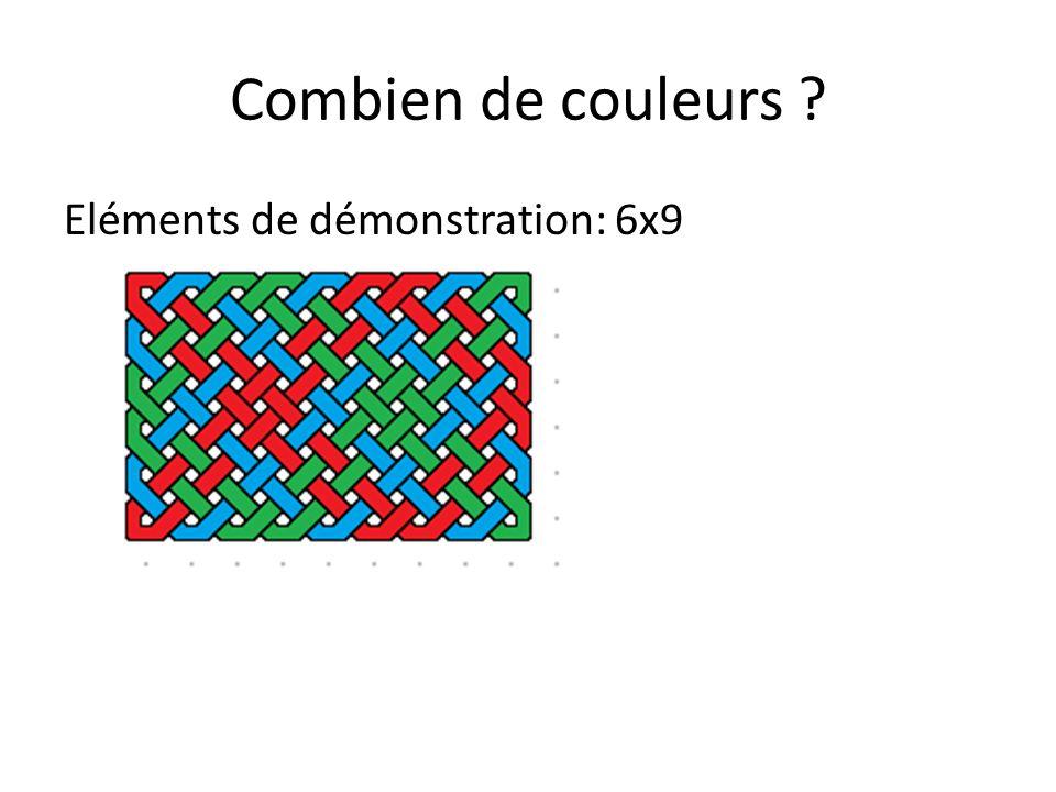 Combien de couleurs Eléments de démonstration: 6x9