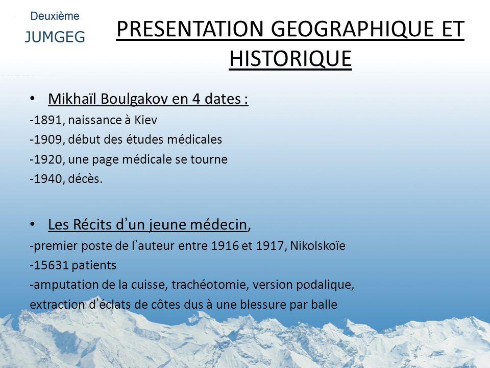 PRESENTATION GEOGRAPHIQUE ET HISTORIQUE
