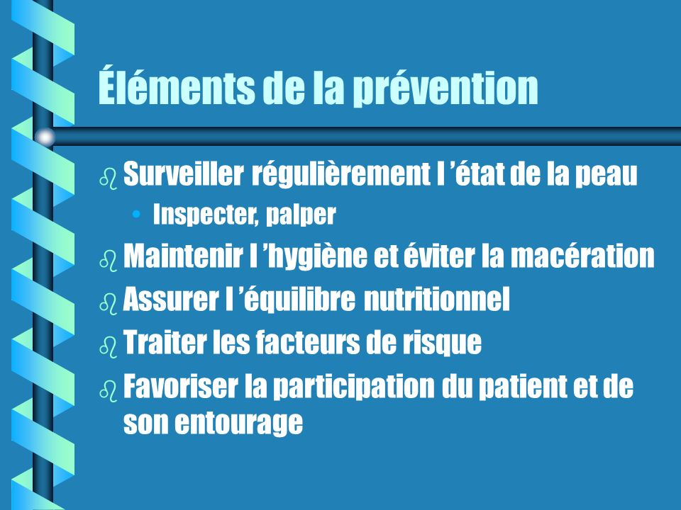 Éléments de la prévention