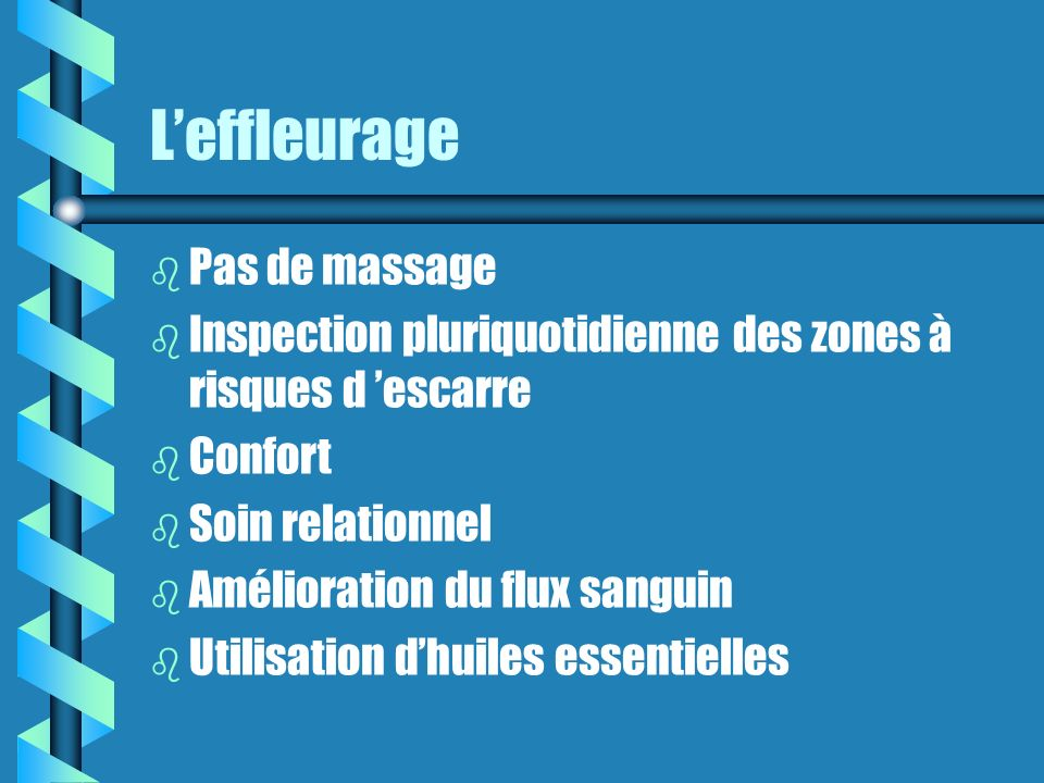 L'effleurage Pas de massage