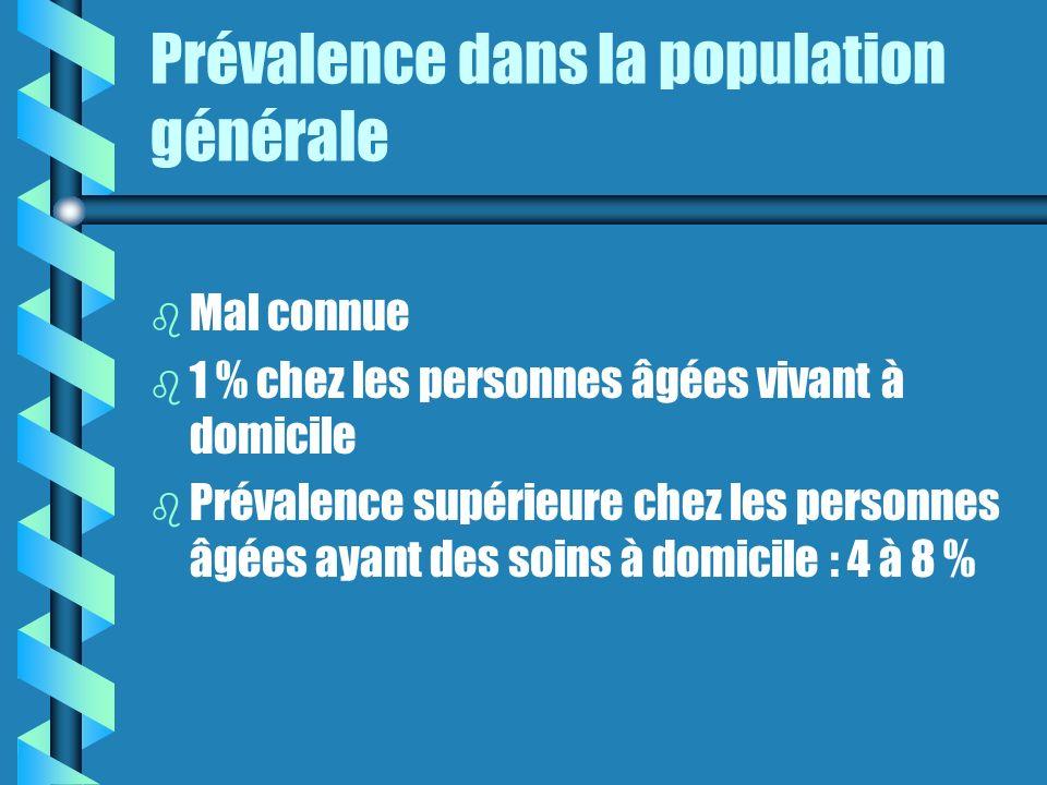 Prévalence dans la population générale