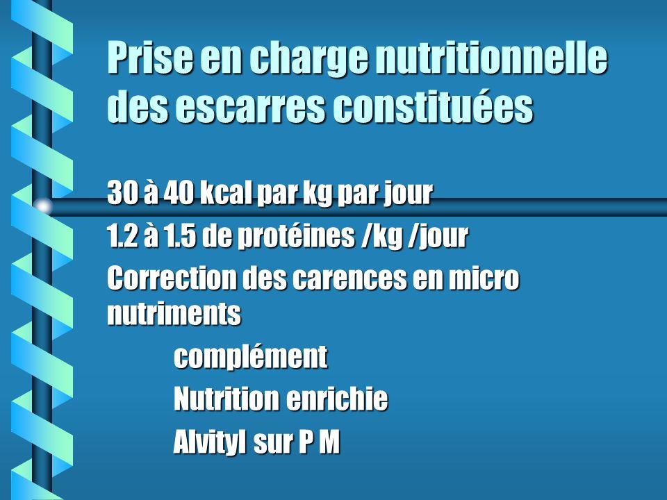 Prise en charge nutritionnelle des escarres constituées
