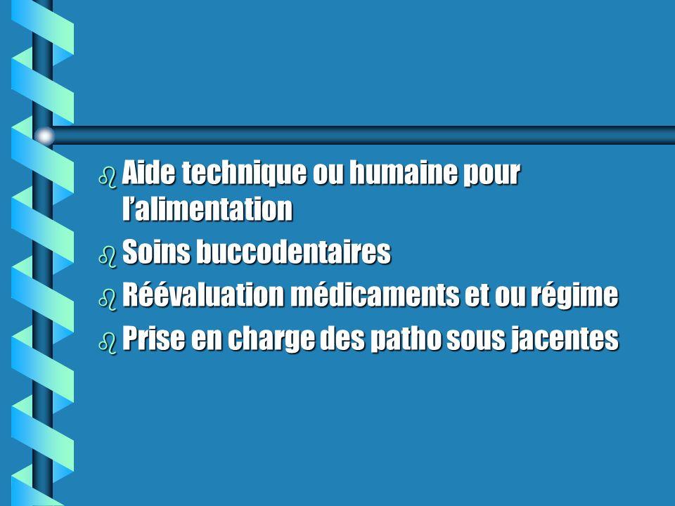 Aide technique ou humaine pour l'alimentation