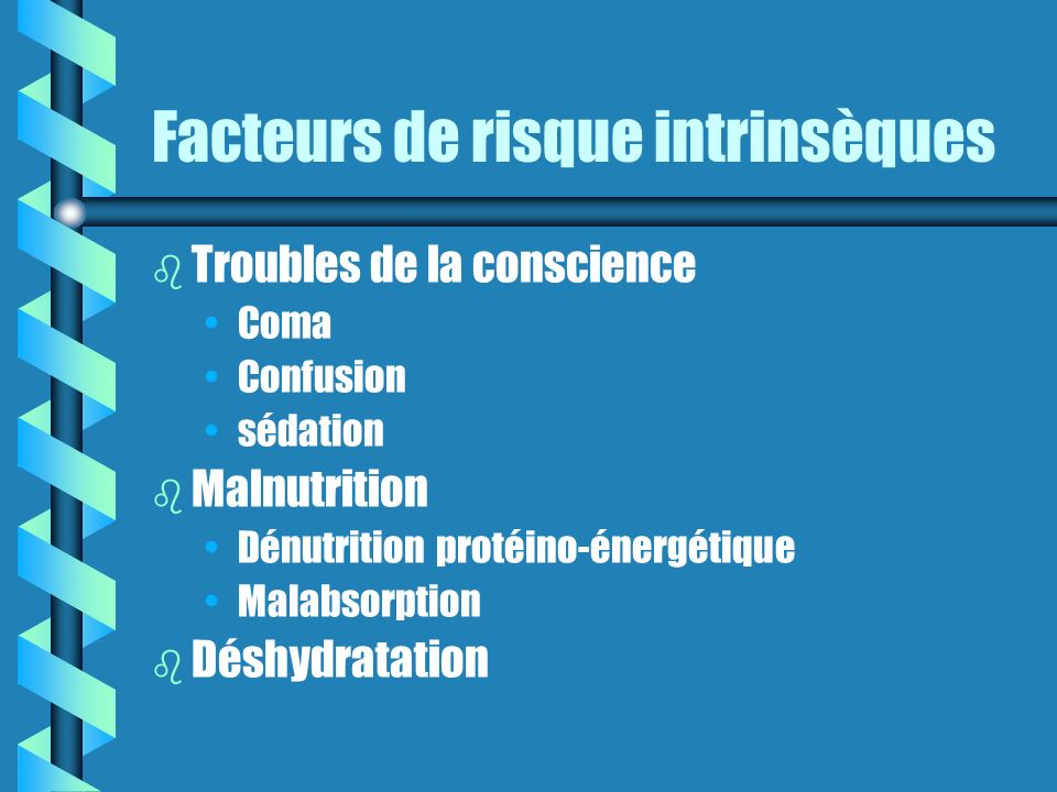 Facteurs de risque intrinsèques