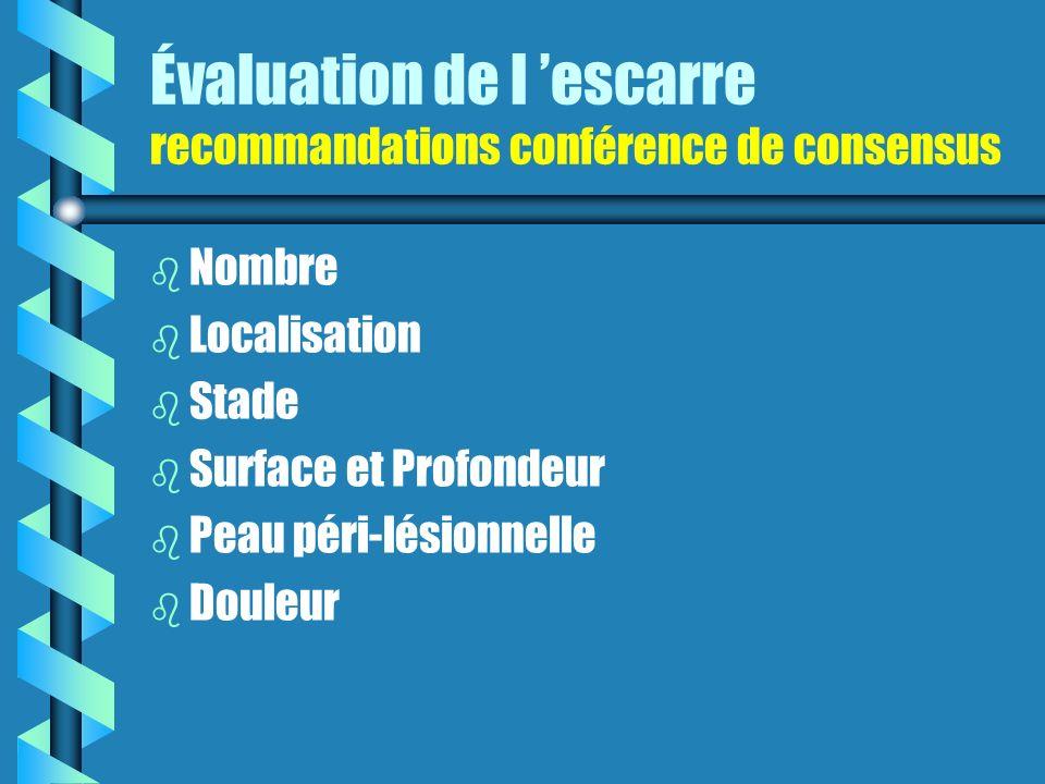 Évaluation de l 'escarre recommandations conférence de consensus