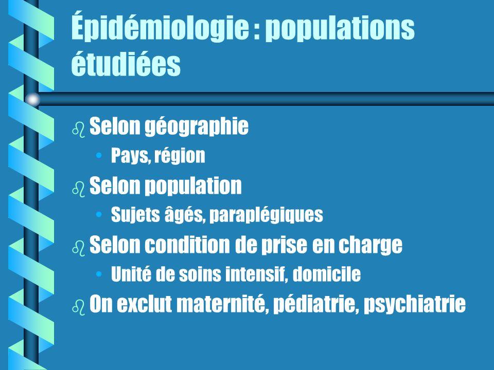 Épidémiologie : populations étudiées