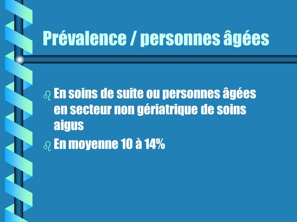Prévalence / personnes âgées
