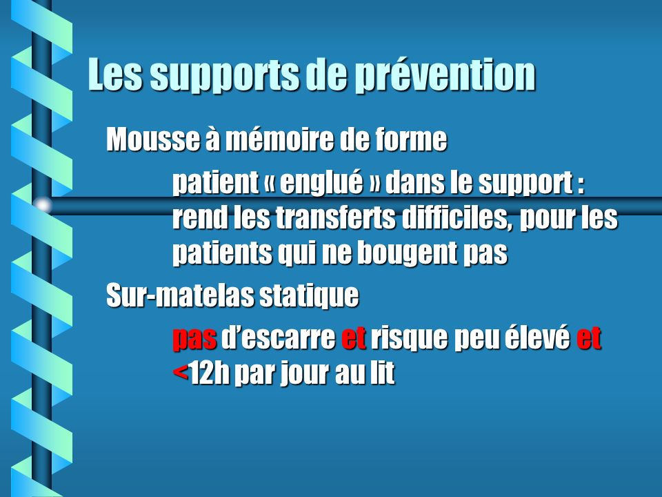 Les supports de prévention