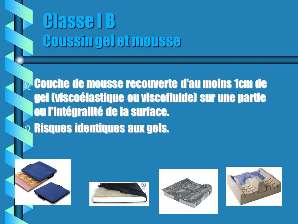 Classe I B Coussin gel et mousse