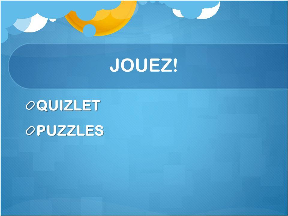 JOUEZ! QUIZLET PUZZLES