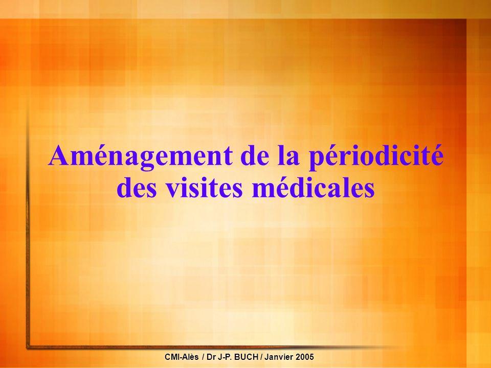 Aménagement de la périodicité des visites médicales