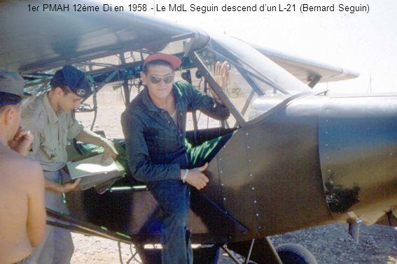 1er PMAH 12ème Di en 1958 - Le MdL Seguin descend d'un L-21 (Bernard Seguin)