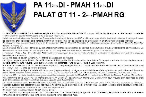PA 11èmeDI - PMAH 11èmeDI PALAT GT 11 - 2èmePMAH RG