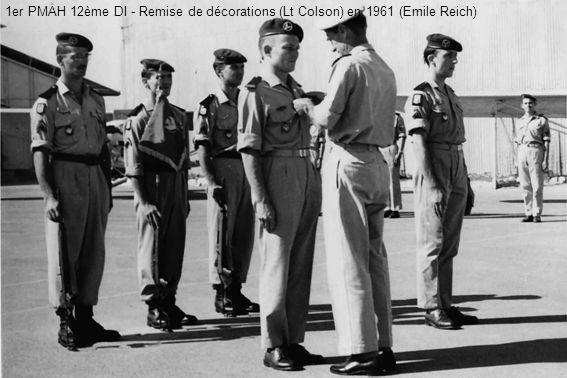 1er PMAH 12ème DI - Remise de décorations (Lt Colson) en 1961 (Emile Reich)