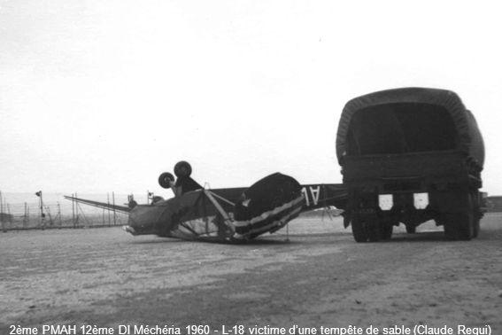 2ème PMAH 12ème DI Méchéria 1960 - L-18 victime d'une tempête de sable (Claude Requi)