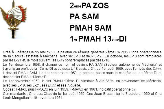 2èmePA ZOS PA SAM PMAH SAM 1er PMAH 13èmeDI