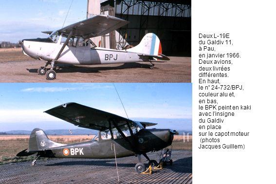 Deux L-19E du Galdiv 11, à Pau, en janvier 1966