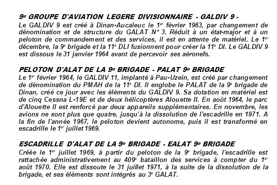 9e GROUPE D AVIATION LEGERE DIVISIONNAIRE - GALDIV 9 -