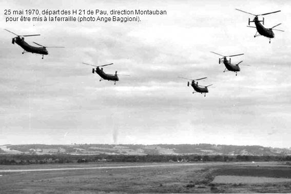 25 mai 1970, départ des H 21 de Pau, direction Montauban pour être mis à la ferraille (photo Ange Baggioni).