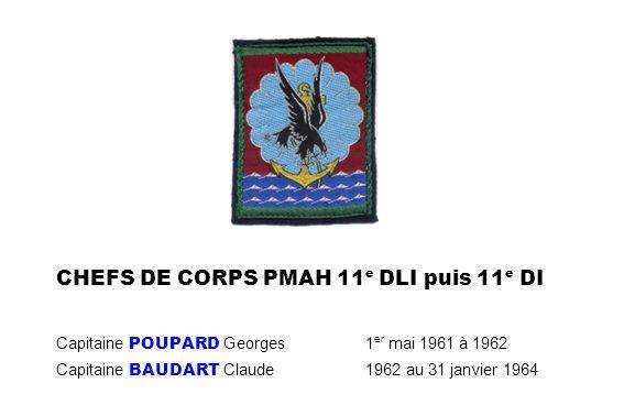 CHEFS DE CORPS PMAH 11e DLI puis 11e DI Capitaine POUPARD Georges
