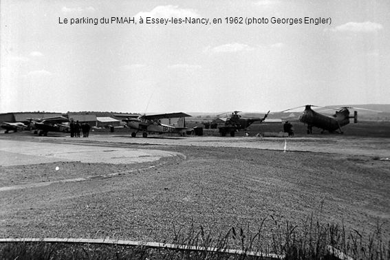 Le parking du PMAH, à Essey-les-Nancy, en 1962 (photo Georges Engler)