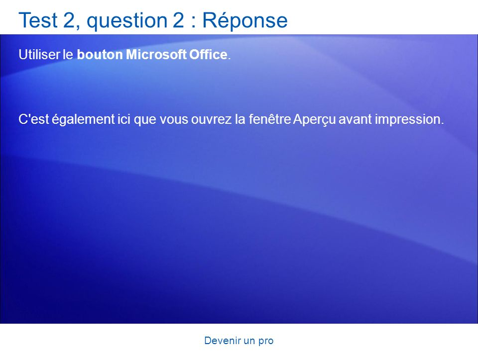 Test 2, question 2 : Réponse