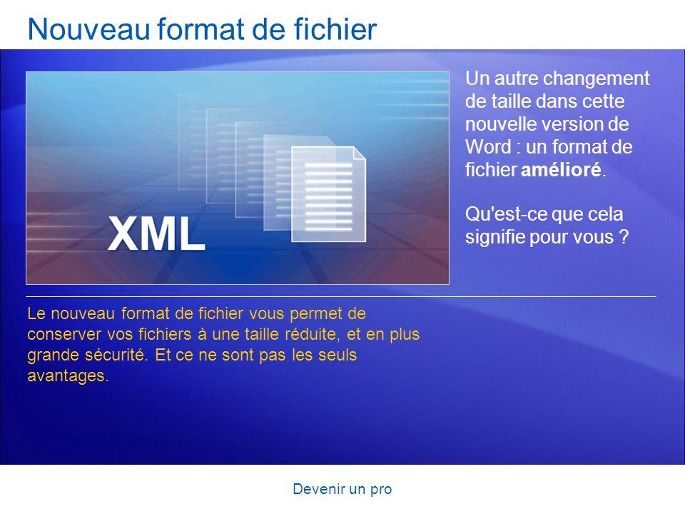 Nouveau format de fichier
