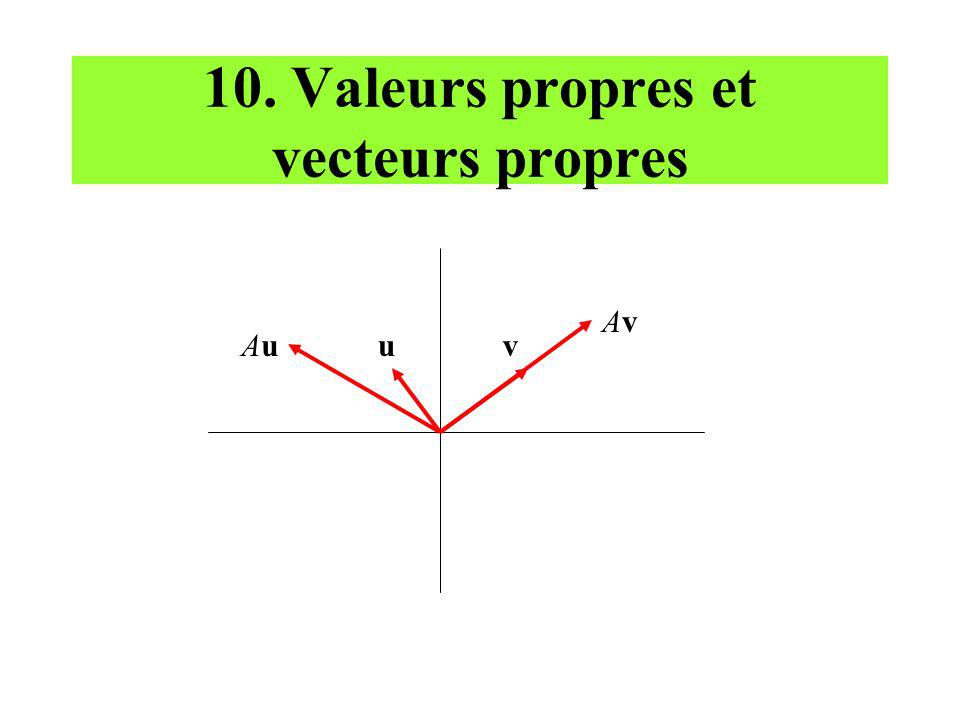 10. Valeurs propres et vecteurs propres