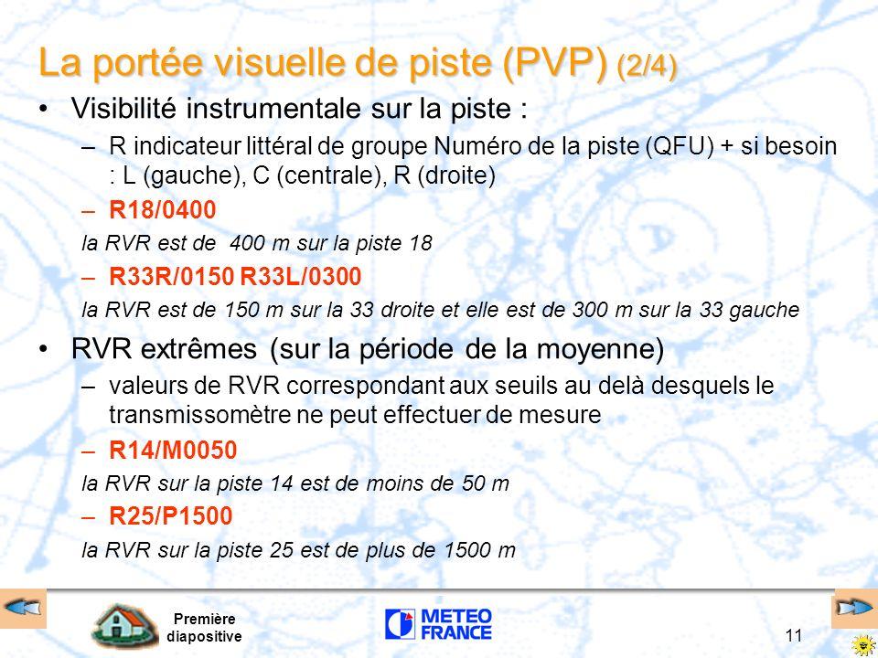 La portée visuelle de piste (PVP) (2/4)