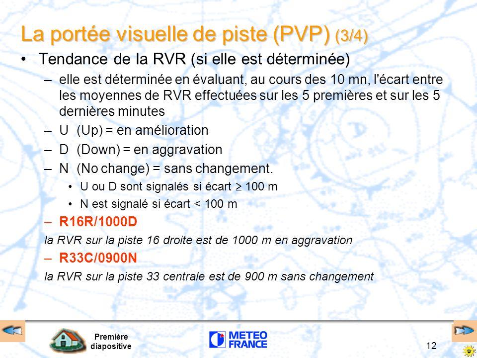 La portée visuelle de piste (PVP) (3/4)