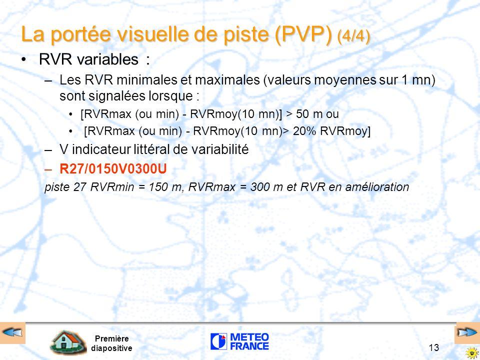 La portée visuelle de piste (PVP) (4/4)
