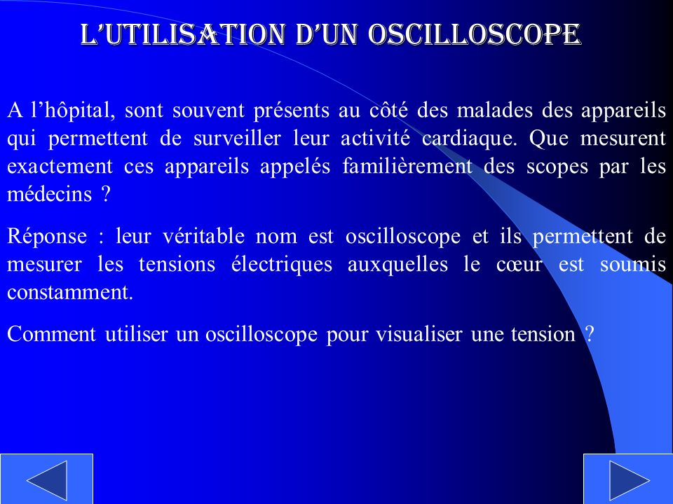 L'utilisation d'un Oscilloscope