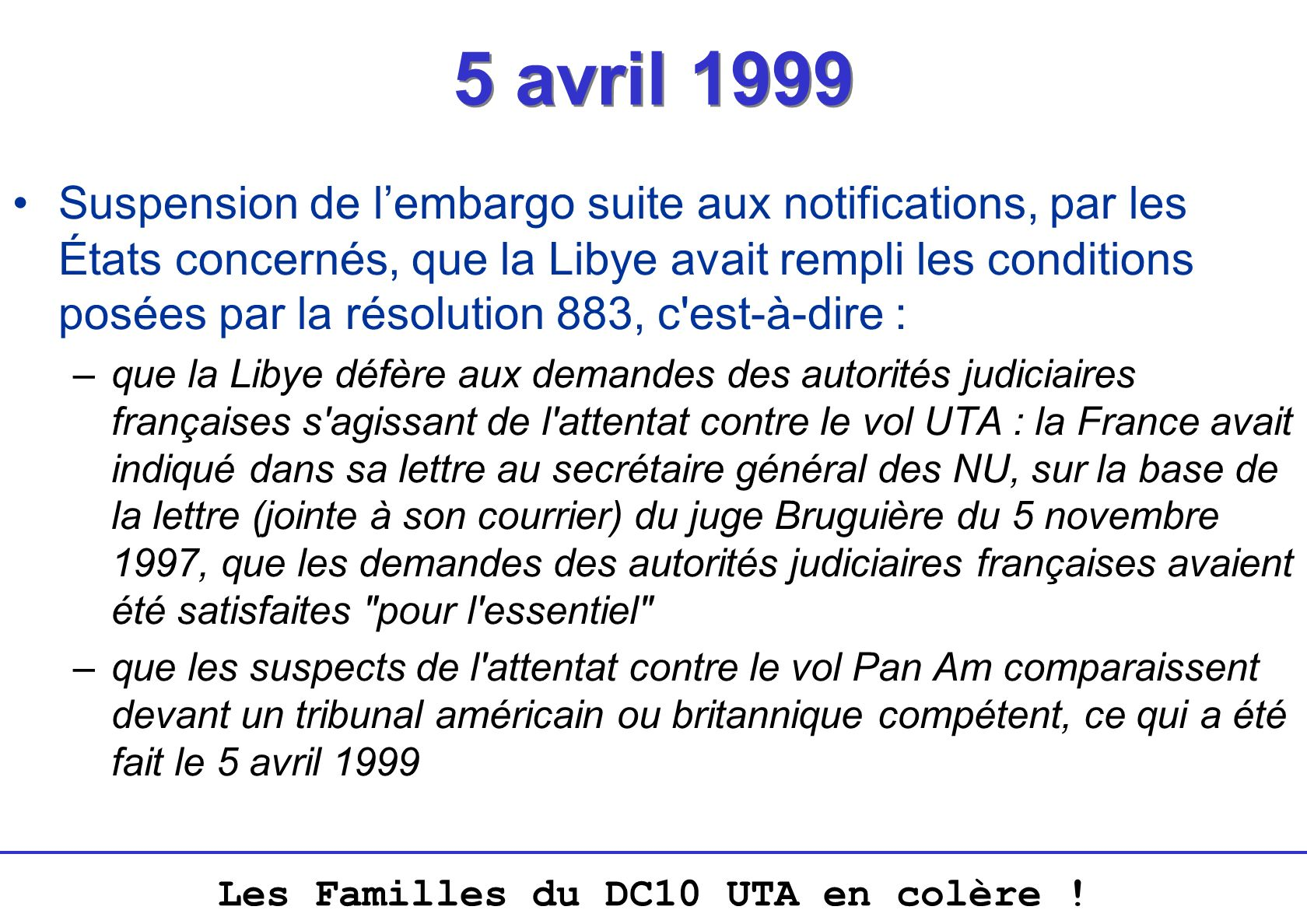 5 avril 1999