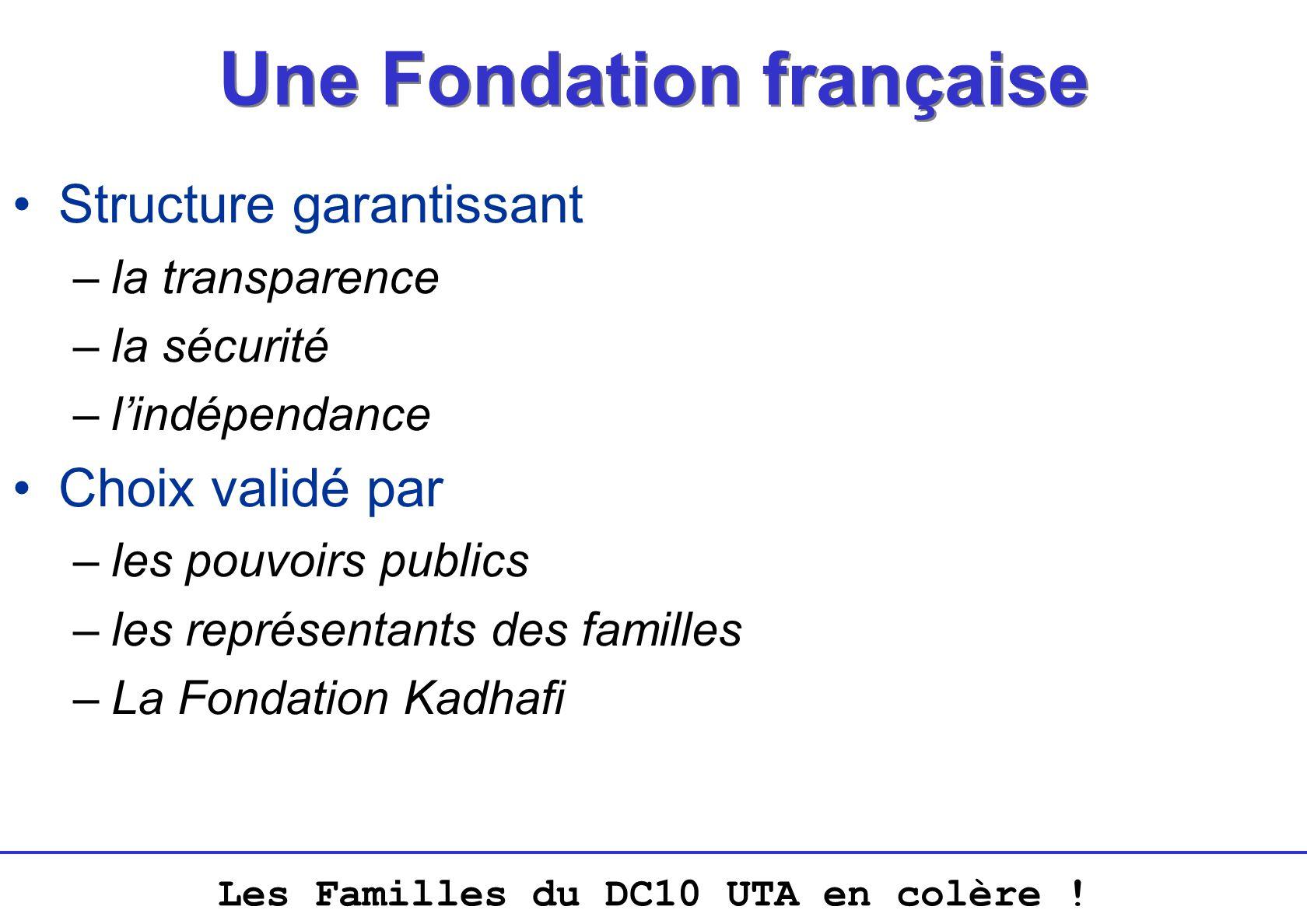 Une Fondation française